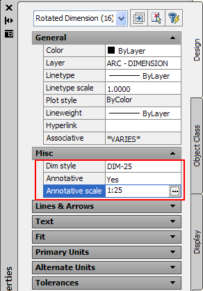how to change annotation scale autocad