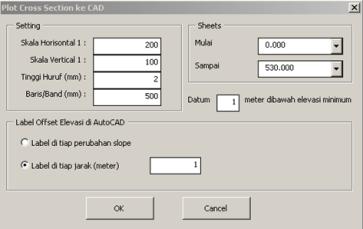 XLS-SVY-13]: Plotting Cross Section dari Excel ke AutoCAD